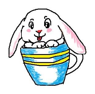 鼠绘的超级可爱的小白兔